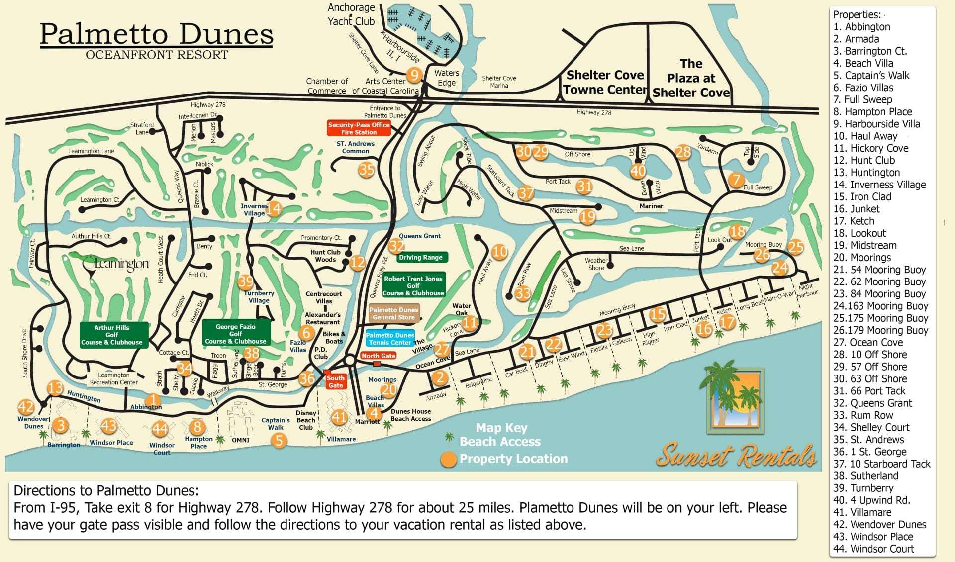 Palmetto Dunes Resort Complex Map